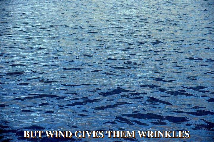 BUT WIND GIVES THEM WRINKLES
