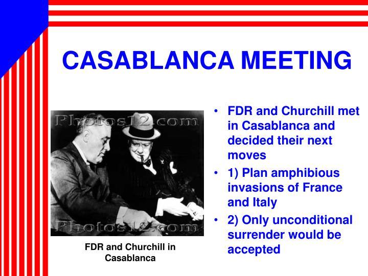 CASABLANCA MEETING