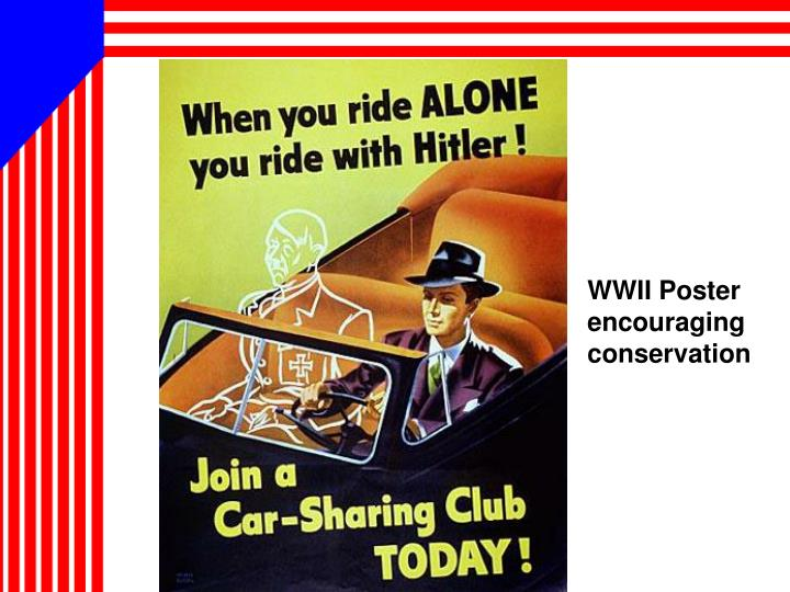 WWII Poster encouraging conservation