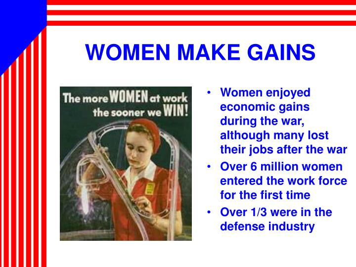 WOMEN MAKE GAINS