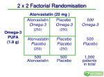 2 x 2 factorial randomisation