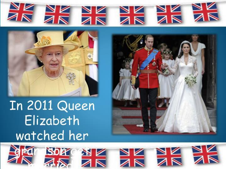 In 2011 Queen Elizabeth watched her grandson get married.