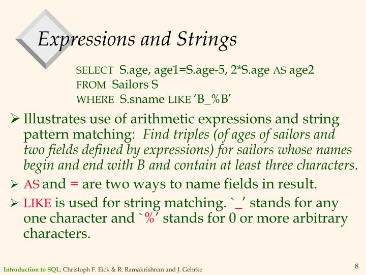 Expressions and Strings