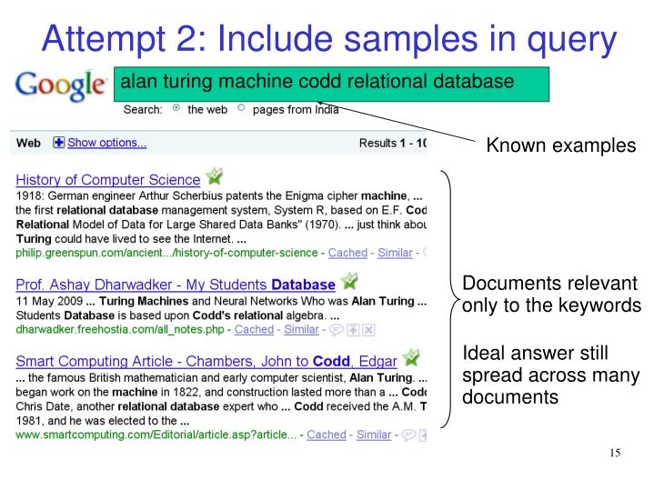 Attempt 2: Include samples in query