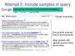 attempt 2 include samples in query