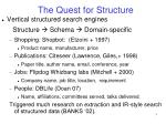 the quest for structure