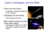 users ontologies and the web