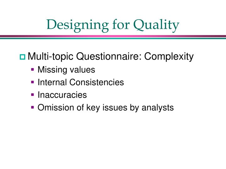 Designing for Quality