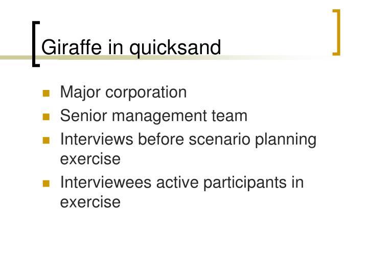Giraffe in quicksand
