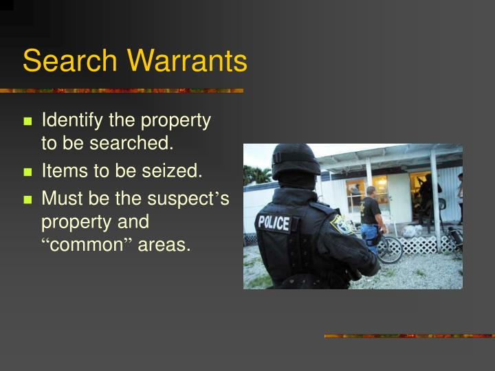 Search Warrants