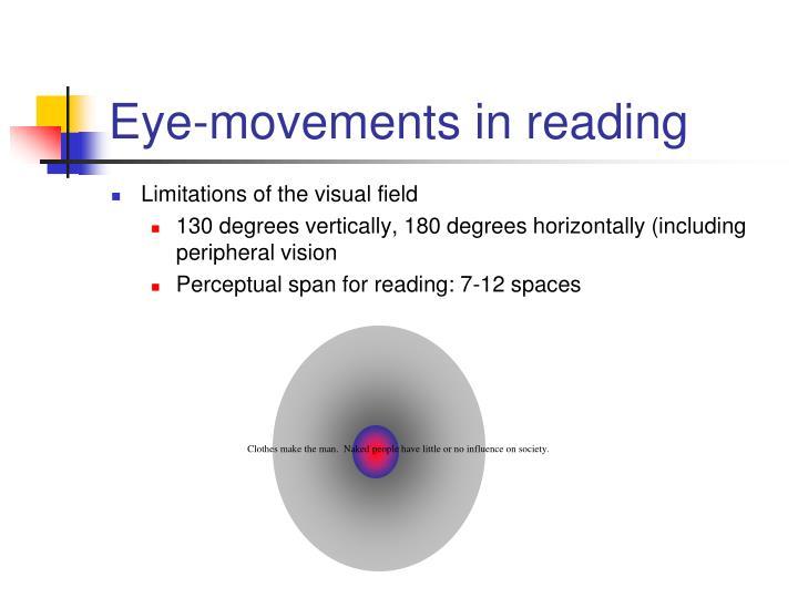 Eye-movements in reading