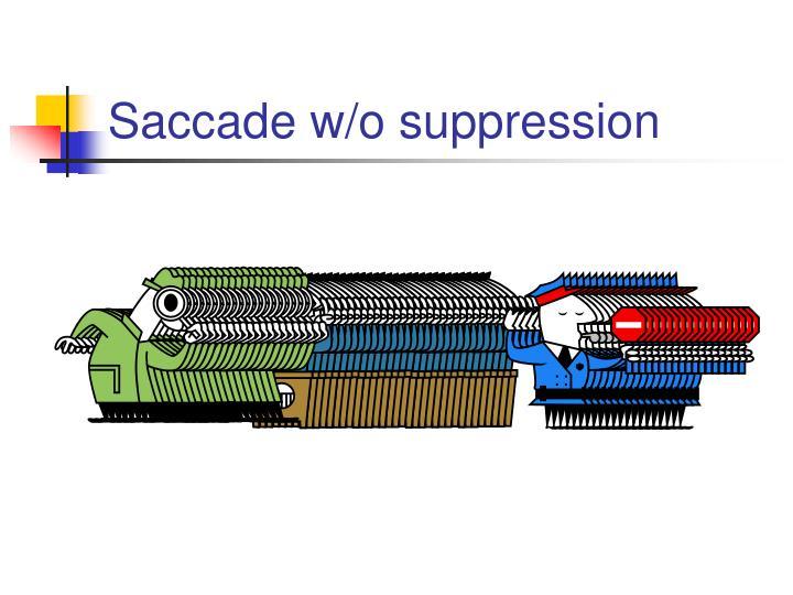 Saccade w/o suppression