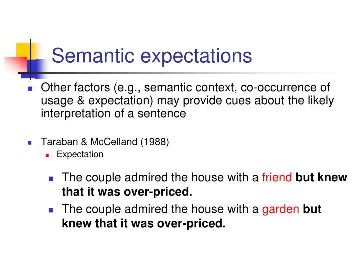 Semantic expectations