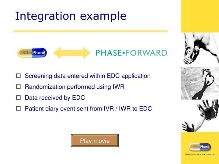 Integration example