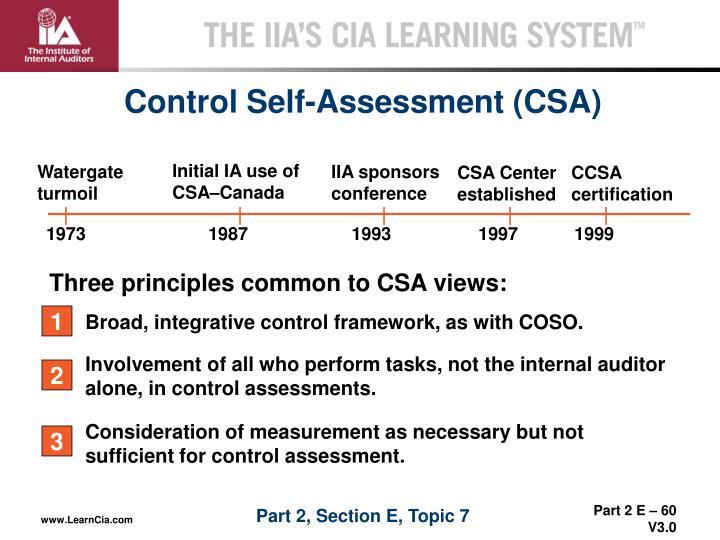 Initial IA use of CSA–Canada