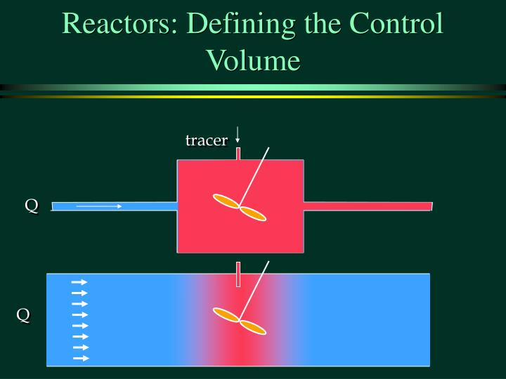 Reactors: Defining the Control Volume