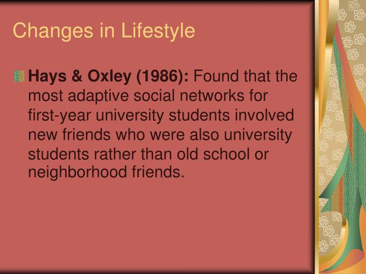 Changes in Lifestyle