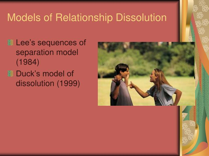 Models of relationship dissolution