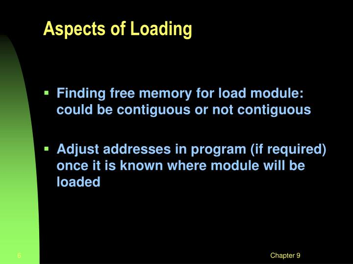 Aspects of Loading