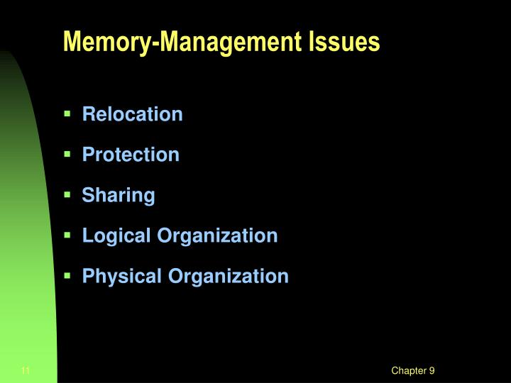 Memory-Management Issues