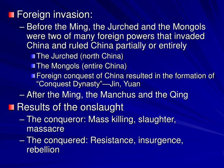 Foreign invasion: