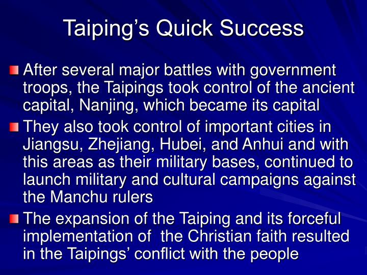 Taiping's Quick Success