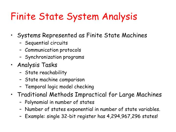Finite State System Analysis