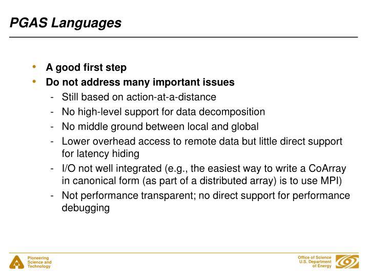 PGAS Languages