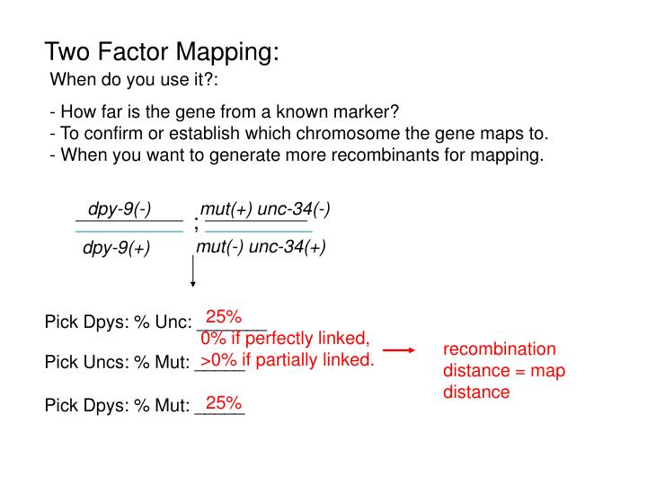 recombination distance = map distance