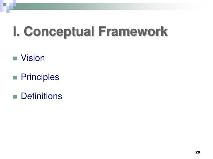 I. Conceptual Framework