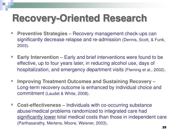 Recovery-Oriented Research