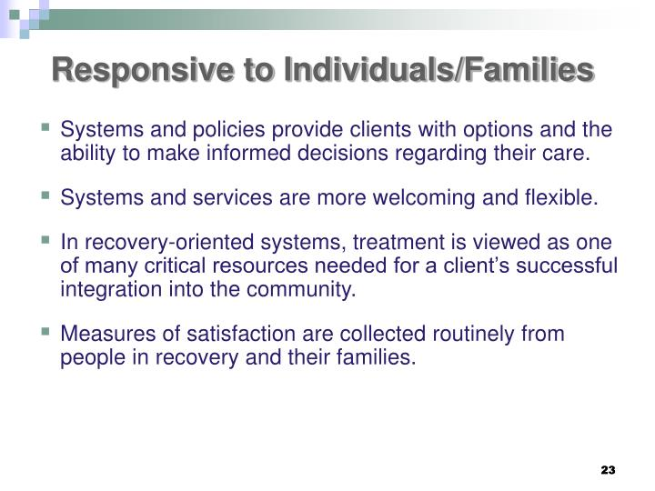 Responsive to Individuals/Families