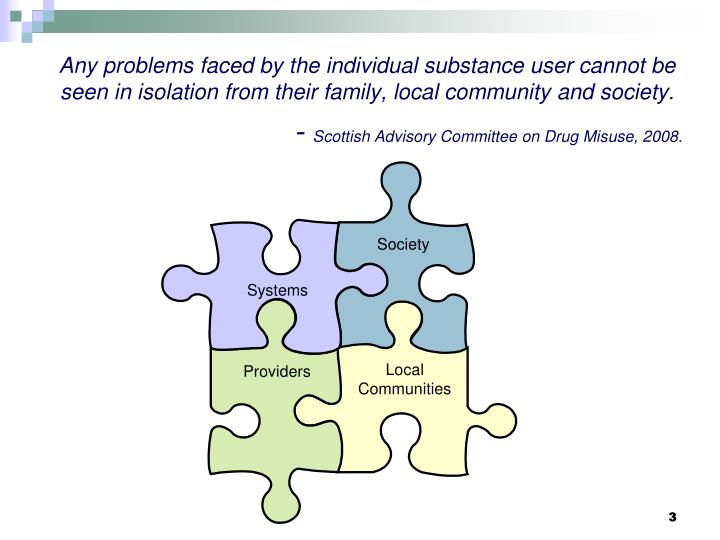 Any problems faced by the individual substance user cannot be seen in isolation from their family, l...