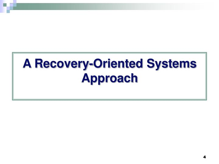 A Recovery-Oriented Systems Approach
