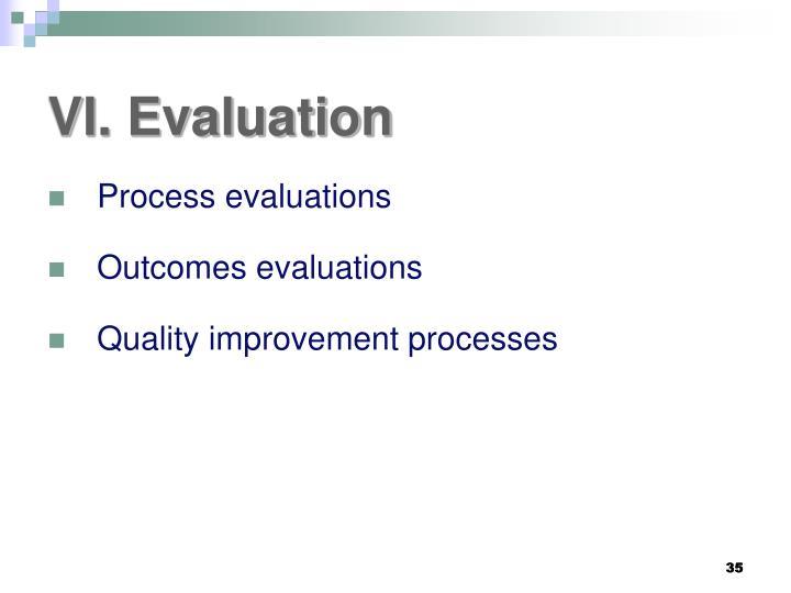 VI. Evaluation