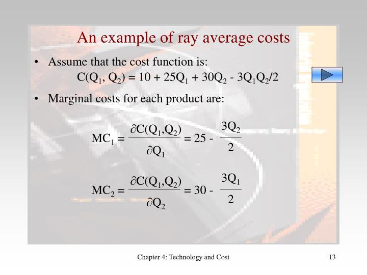 An example of ray average costs