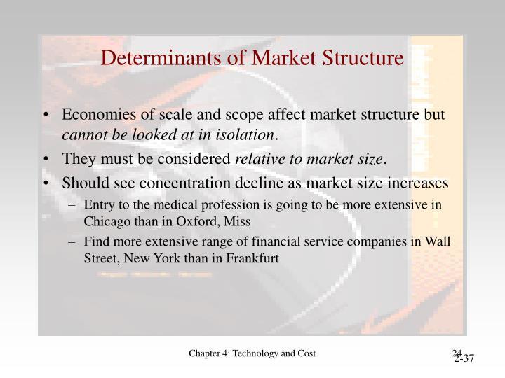 Determinants of Market Structure