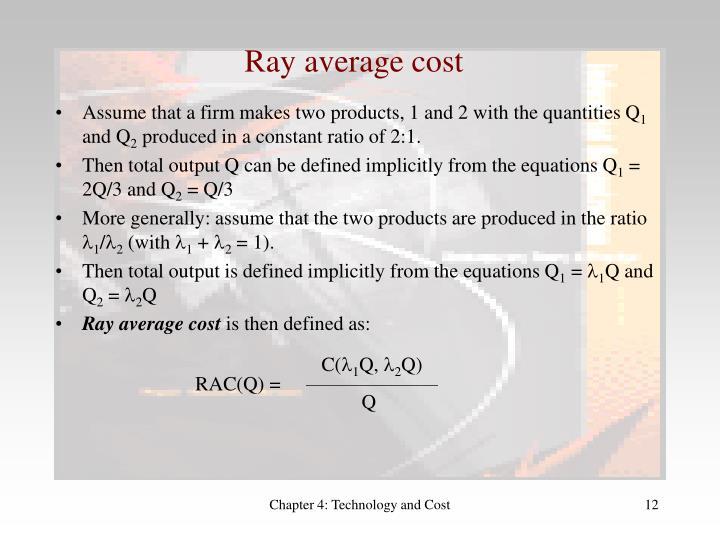 Ray average cost