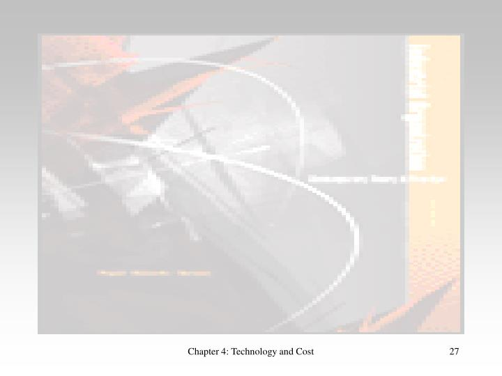 Chapter 4: Technology and Cost