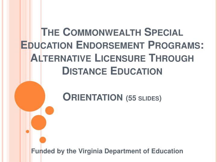 Funded by the virginia department of education