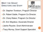 meet the grant directors and staff