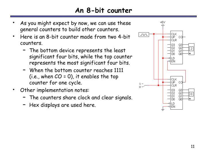An 8-bit counter