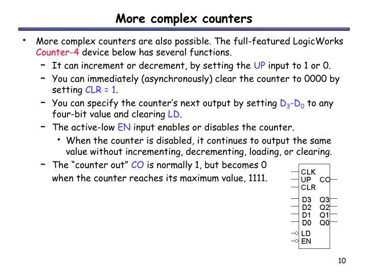 More complex counters