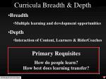 curricula breadth depth