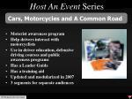host an event series
