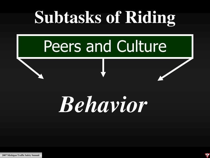 Subtasks of Riding