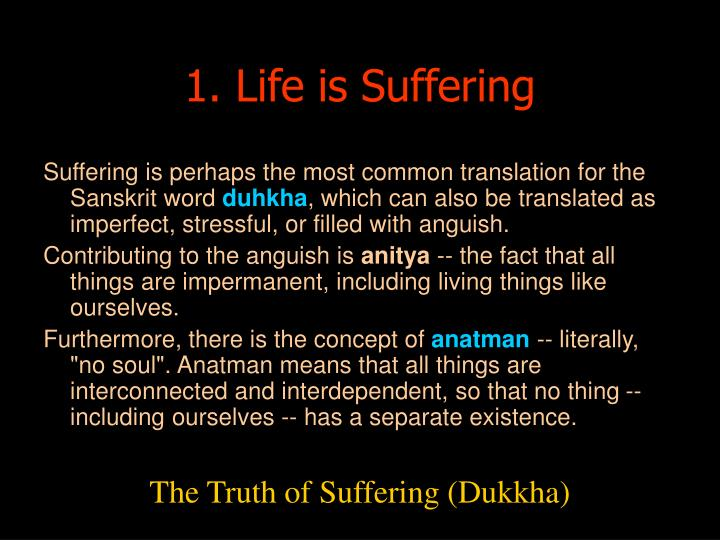 1. Life is Suffering