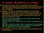 a modern buddhist nun writes