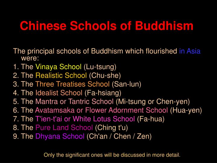 Chinese Schools of Buddhism