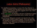 lotus sutra mahayana